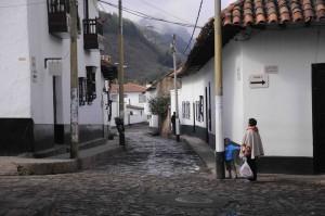 Street in Cucunubá, Colombia.