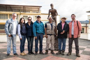 Group photo near the end of the field work. Tim Moore with Colombian colleagues.