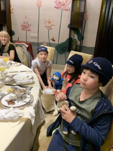 The joys of travel: our children - Russian, Chinese and Indonesian/New Zealander